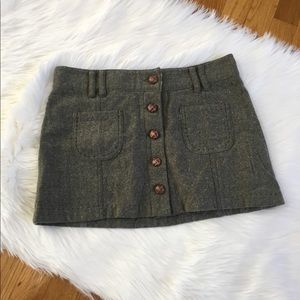American Eagle Outfitters Wool Mini Skirt